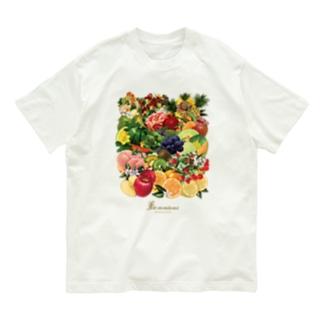 【forseason】フルーツ盛り合わせ(ロゴあり) Organic Cotton T-shirts