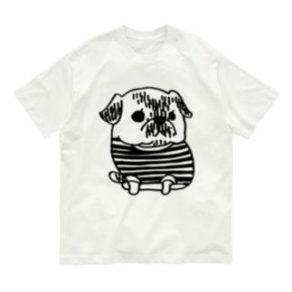 パグのPecoちゃん Organic Cotton T-shirts