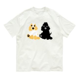パピちーてー正面 Organic Cotton T-shirts