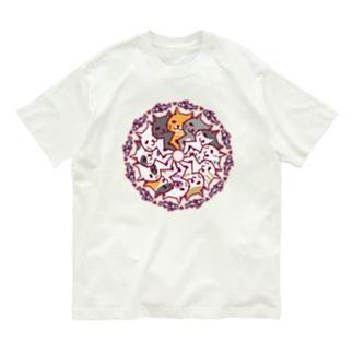 にゃーにゃーぐるぐる Organic Cotton T-shirts