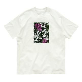 シロミミナグサとチューリップ Organic Cotton T-shirts