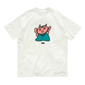 かわいいつのざる Organic Cotton T-shirts
