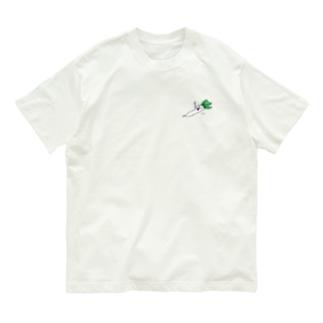 寝るだいこんさん Organic Cotton T-shirts