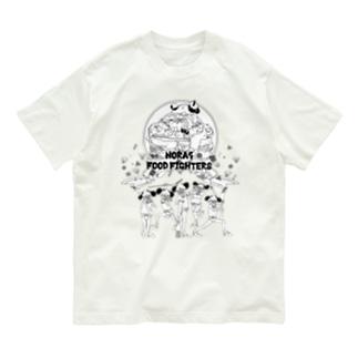 NORA5 FOODFIGHTERS 薄色用 Organic Cotton T-shirts