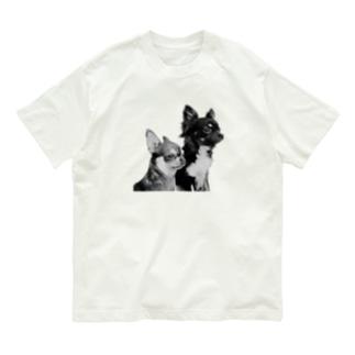 愛するチビたち(モノクロ) Organic Cotton T-shirts