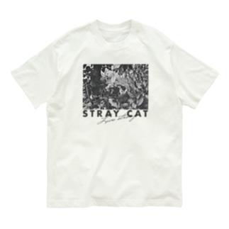 STRAY CAT Live strong A(BLACK) Organic Cotton T-shirts