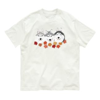 ハスキー親子 Organic Cotton T-shirts