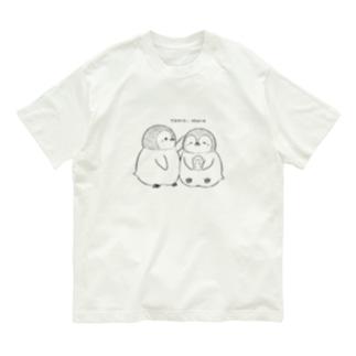 手描きペンギン Organic Cotton T-shirts