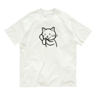 猫の大河、もしもししもしも Organic Cotton T-shirts