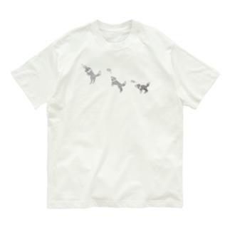 ボーダーコリー キャッチの瞬間 Organic Cotton T-shirts