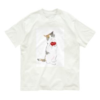力こそパワー!ねこ Organic Cotton T-shirts