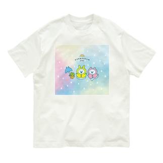 うさぎゅーん!!!ゆめかわレイニー Organic Cotton T-shirts