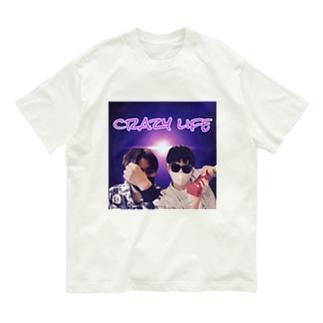 crazy life てつ&りくえもん Organic Cotton T-shirts