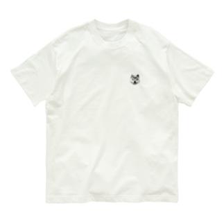 ワン!ポイント柴 Organic Cotton T-shirts