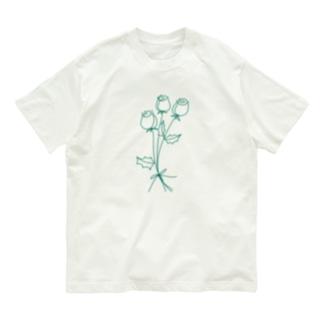 緑のバラ Organic Cotton T-shirts