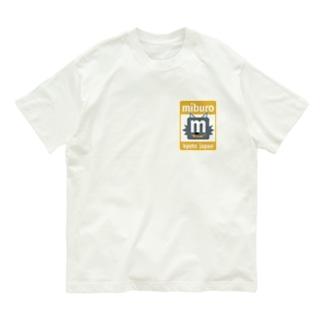 ステッカーロゴ(イエロー) Organic Cotton T-shirts