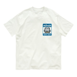 ステッカーロゴ(ブルー) Organic Cotton T-shirts