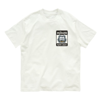 ステッカーロゴ(ブラック) Organic Cotton T-shirts