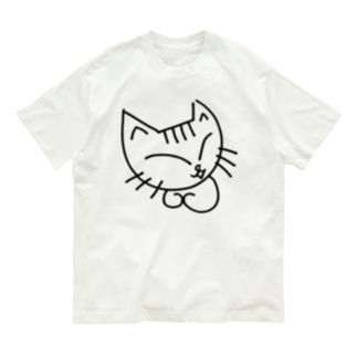 しろねこのミケコ。 Organic Cotton T-shirts