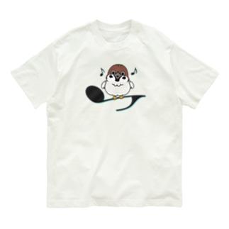 CT161 スズメがちゅんA*イラストサイズ大きいver* Organic Cotton T-Shirt