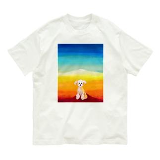風景 プードル Organic Cotton T-shirts
