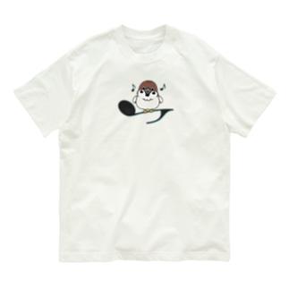 CT161 スズメがちゅんA*イラストサイズノーマルver. Organic Cotton T-Shirt