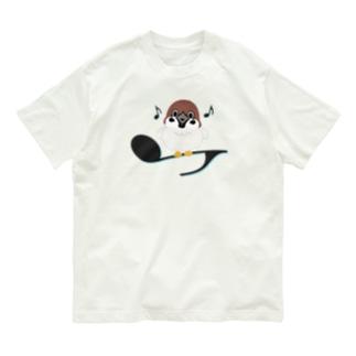 CT161 スズメがちゅんB*イラストサイズ大きいver. Organic Cotton T-Shirt