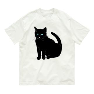 こっちを見ている黒猫 Organic Cotton T-shirts