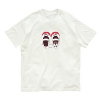 CT165 スズメがちゅん*うわばきちゅんA*イラストサイズ普通ver.* Organic Cotton T-Shirt