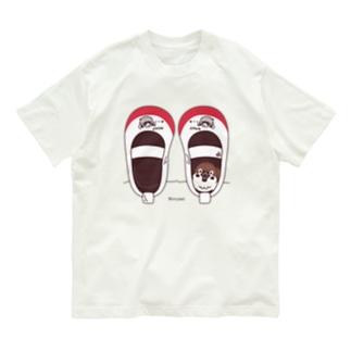 *suzuriDeMONYAAT*のCT165 スズメがちゅん*うわばきちゅんA*イラストサイズ大きいver. Organic Cotton T-Shirt