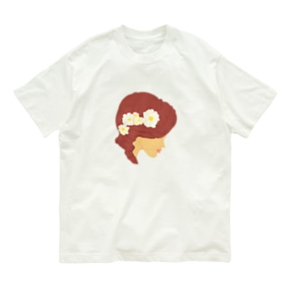 花と髪 Organic Cotton T-shirts