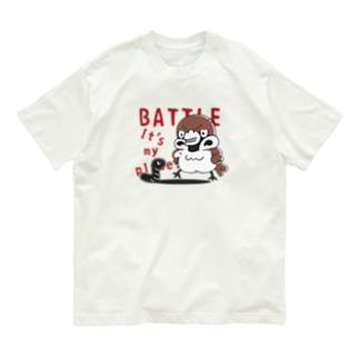 CT166 スズメがちゅん*BATTLEちゅん Organic Cotton T-Shirt