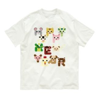 干支文字-HAPPY NEW YEAR- Organic Cotton T-shirts