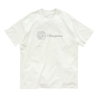 薔薇(一輪) Organic Cotton T-shirts