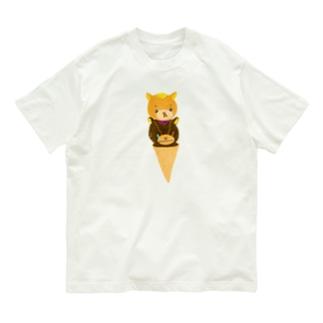 くまのマークとマクセニ アイス Organic Cotton T-shirts