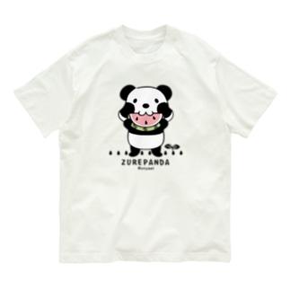 CT169 ズレちゃんとTWIN PANDAS*B Organic Cotton T-Shirt