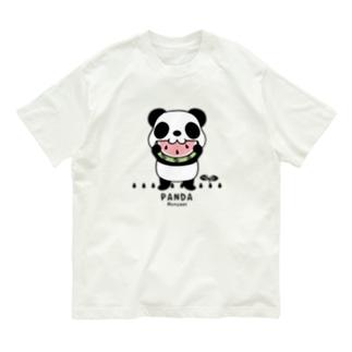 CT169 ズレちゃんとTWIN PANDAS*B Organic Cotton T-shirts