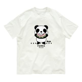 CT169 ズレちゃんとTWIN PANDAS*C Organic Cotton T-shirts