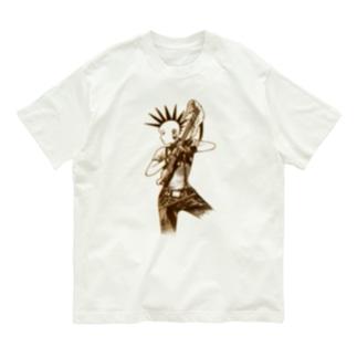 パンクギターガール001 Organic Cotton T-Shirt