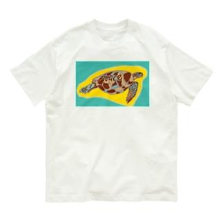 青海ガメ(2) Organic Cotton T-shirts