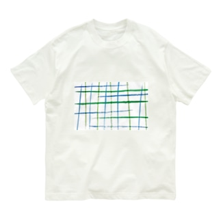 チェックB Organic Cotton T-shirts
