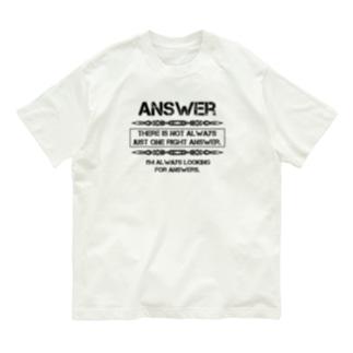 Answer Organic Cotton T-shirts