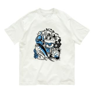 海の幸を料理する猫 Organic Cotton T-shirts