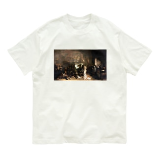 ギュスターヴ・クールベ(画家のアトリエ)のグッズ Organic Cotton T-shirts