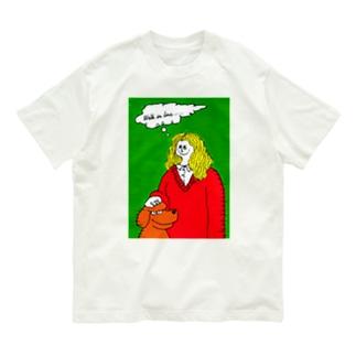 """""""WALK IN LOVE(DOG)"""" Organic Cotton T-shirts"""