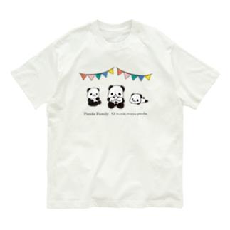 パンダファミリー(ニンキモノパンダ) Organic Cotton T-Shirt