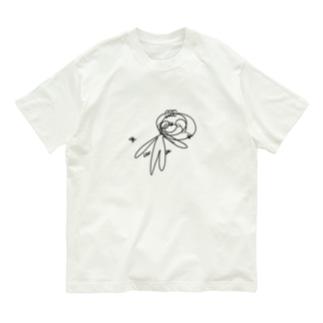 目隠しして描いたぺれぞう(くろ) Organic Cotton T-shirts