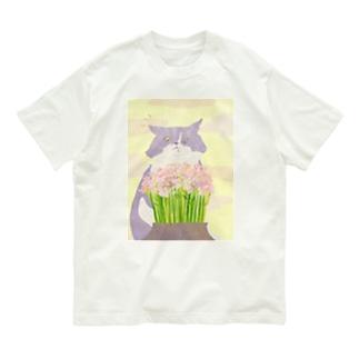 猫と花 Organic Cotton T-shirts