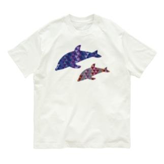 イルカの親子 Organic Cotton T-shirts