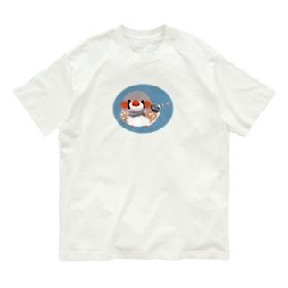 キンカチョウもしゃもしゃ Organic Cotton T-shirts